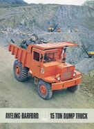 A 1960s Aveling Barford SL300 Quarry Dumptruck