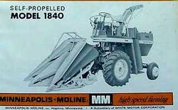 MM 1840 forage harvester b&w