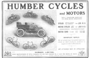 Humber advertentie 1903