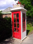 K1 Telephone Box, Lowestoft Transport Museum, 13th June 2009
