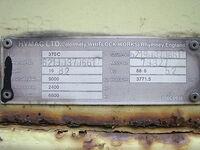 HYMAC 370 ID PLATE.