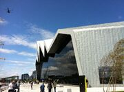Riverside museum from front