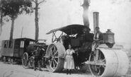 A 1940s Aveling Barford Petrol Roadroller