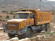 A 1980s Scammell S24 6X4 TD Dumptruck