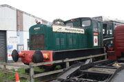 """Ruston & Hornsby 4wDM Shunter """"Wensley"""" at Leeming Bar Station yard IMG 7395"""