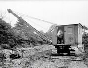 A 1940s Priestman Brothers Panther Dragline