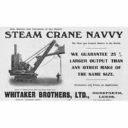 A 1920s Whitaker Brothers Combined Steam Crane-Excavator