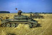 Crusader tanks in Yorkshire 1942