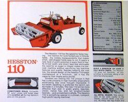 Hesston 110 swather brochure