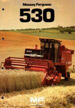 MF 530 combine brochure