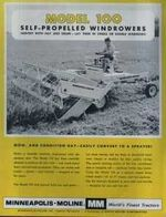 MM 100 swather b&w brochure