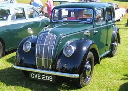 Morris eight late version with Beetlelike headlight covers as originally fitted to final versions of the 8