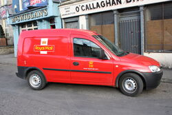 Royal Mail van, Newry, March 2010