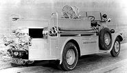 A 1930s Thornycroft Bulldog Fire Engine