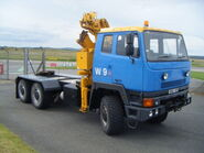 A 1980s Scammell S26 6X6 TDI Crane Tractor Lorry