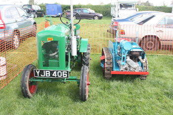 Trusty Steed - YJB 406 and Ransomes MG2 sn 151 at Rushden 2010 - IMG 9427