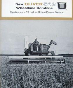 Oliver 542 combine b&w brochure - 1966