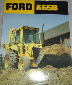 Ford 555B backhoe brochure
