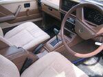 Brown automobile interior