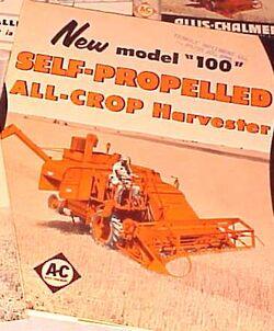 AC All-Crop 100 combine brochure