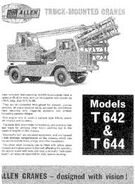 A 1960s Allen Of Oxford Mobile Crane model range