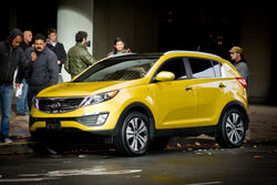 Kia Sportage 2011 Yellow Commercial Shoot in San Francisco 2010-12