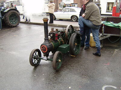 Model Burrel steam tractor Sandbach