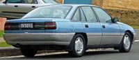 Blue sedan automobile