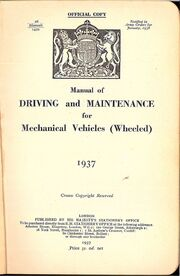 Frontispiece (Manual of Driving and Maintenance)