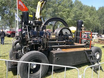 Crossley horizontal Dieselmotor