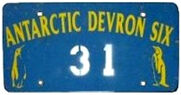 Antarktica license plate devron six 21