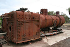 Victorian Railways J class boiler and firebox