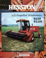 Hesston 8110S swather brochure - 1996
