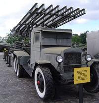 Katyusha launcher front