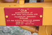 OTA sn 1012 mfc plate at Hollowell 2011 - Picture 578
