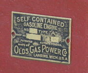 Olds Gas Power Co mfc plate - IMG 8713