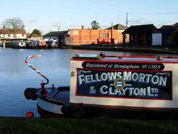 Fellows Morton and Clayton Motorboat No.1308 Lily at Gayton Junction