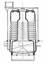 Robertson autocar boiler, section (Rankin Kennedy, Modern Engines, Vol III)