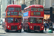 Two Routemasters in London