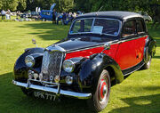 1954 Riley RME 1.5 Litre saloon at Capel Manor, Enfield, London, England