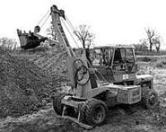 A 1970s DOE Excavator 4WD based on the DOE-Fordson 4WD tractor