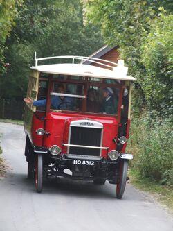 Early Leyland bus, Amberley