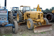 A 1960s Aveling-Barford Grader Fordson Tractor preserved