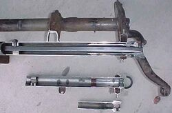 Front axle section torsion bar 2
