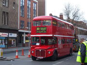 Nottingham & District Omnibus Routemaster bus RML2336 (CUV 336C), Mansfield Street, Nottingham, 14 April 2008