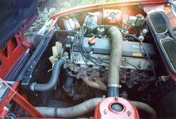 Rover SD1 2300 engine bay