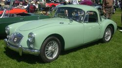 '57 MG MGA Coupe (Hudson)