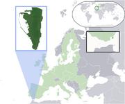Map showing Gibraltar in Europe
