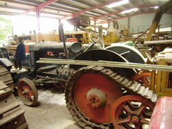A Roadless Half track Fordson Major at Astwood bank