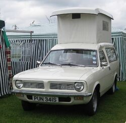 Austin-Morris Marina Motor caravan at Battlesbridge